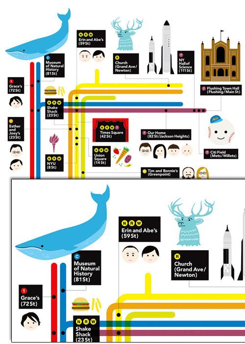 Creative Metro Map themed Design