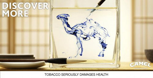 camel is everywhere - camel tobacco ads design