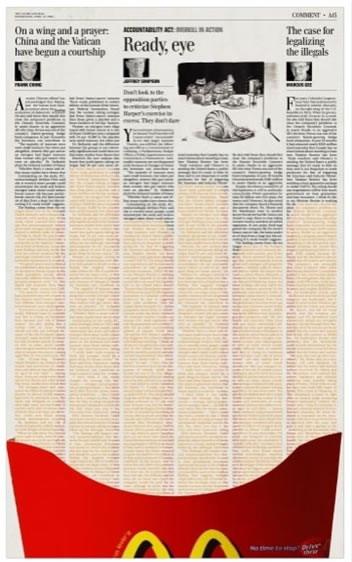 Clever Mcdonalds Newspaper Ads Design