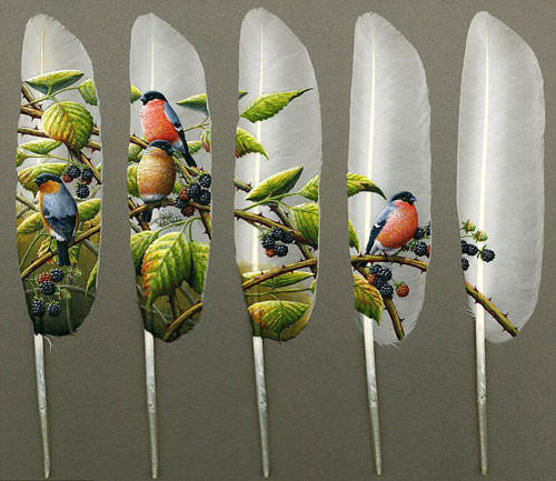 Feather Painting - Art on Feather