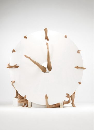 human clock - performance art