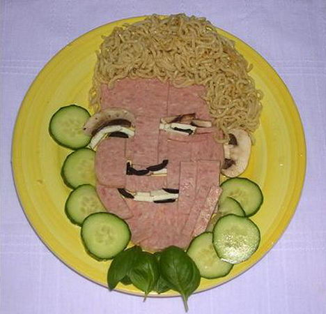 celebrities noodle art