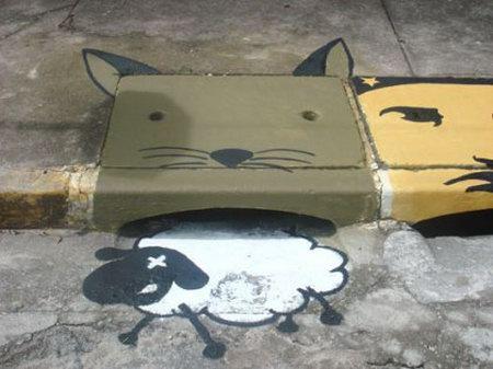 Awesome Graffiti on Sewer