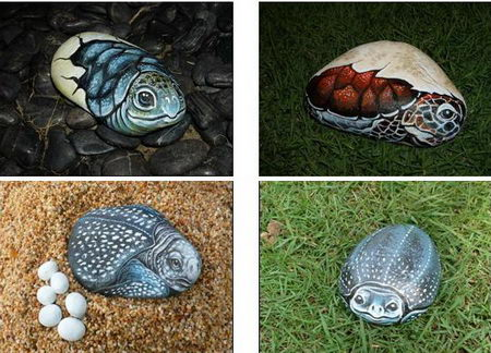 vivid stone painting art