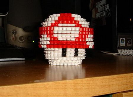 8-bit Desk Standees from Perler Beads - Instructables.com