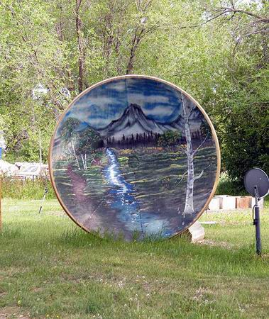 art on satellite dish