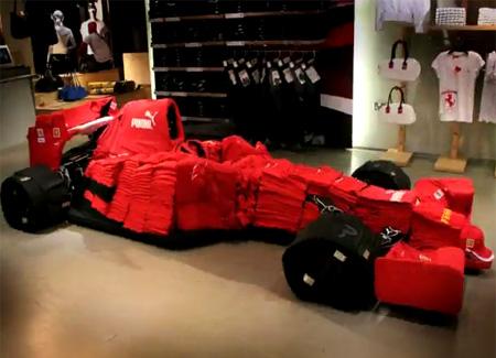 Ferrari F1 Made Out of Puma Clothes