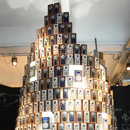 tower made by 1000 radios