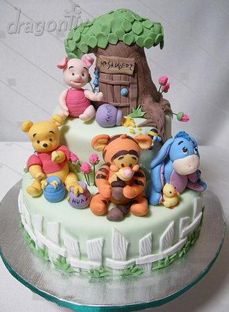 Winnie  Pooh Birthday Cake on Winnie The Pooh