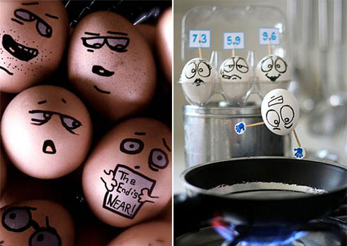 All about finger: If Egg Like Human...Funny Photo of Egg Faces