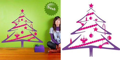 Wall Sticker - afforable christmas tree just in your home