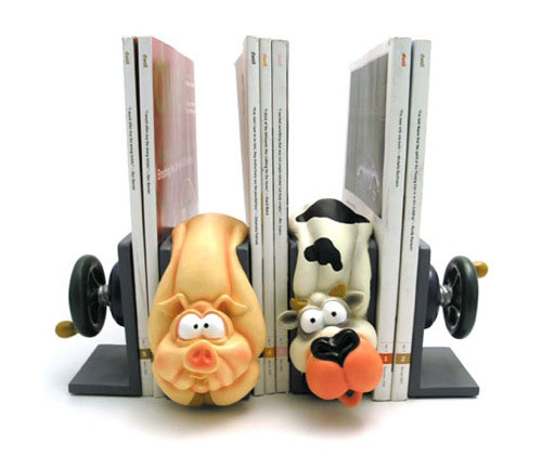 Squished Animal bookends