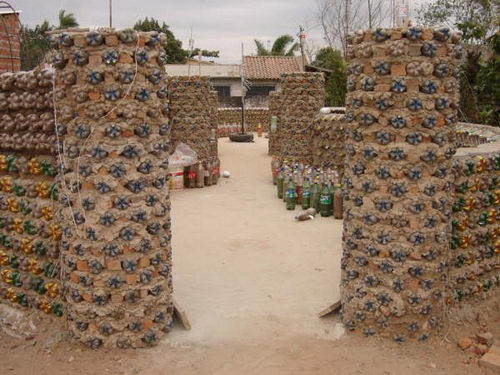 House made by Bottle - Recycling at It's Best!