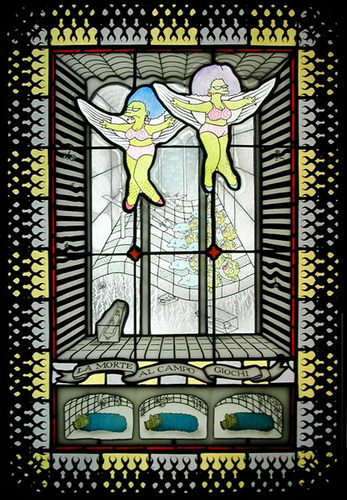 Stained Glass Artwork - Simpsons Series