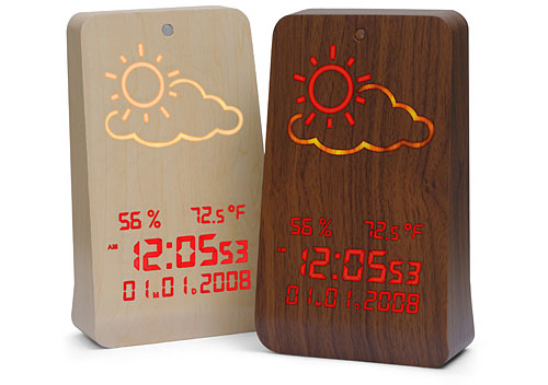 WoodStation - calendar, clock, alarm and weather forecast