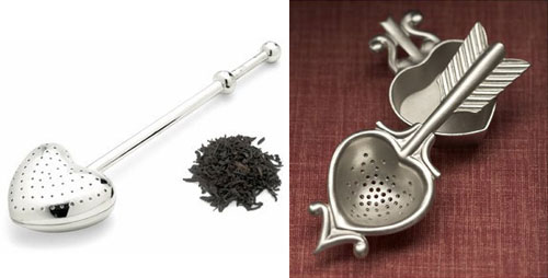 Heart-Shaped Tea Infuser and tea strainer