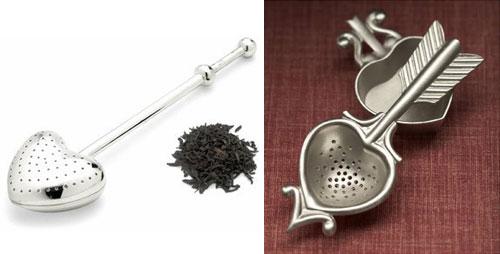 Heart-Shaped Tea Infuser and tea strainer