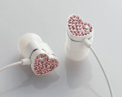 Studded Heart Shaped Ear-drops