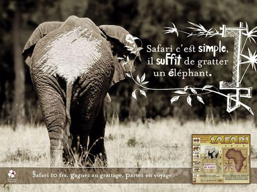 safari trip is simple, just scratch!