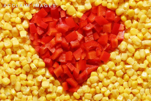 Corn and Red Pepper