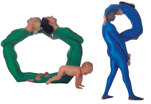 Alphabet by Human Body