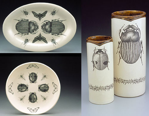 Hand-drawing Bugs on Ceramic