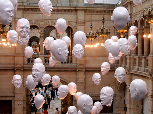 Get Ahead in Art World via Floating Heads