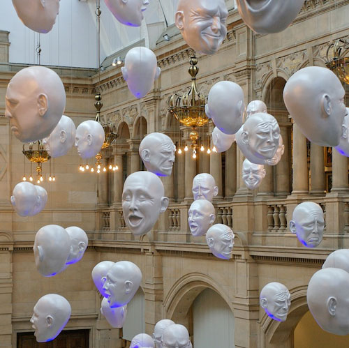 Get Ahead in Art World via Floating Heads