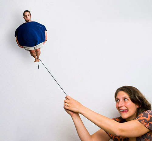 Photographer couples create a hilarious photo album to document their relationship