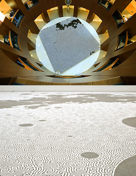Artwork Using Salt From Motoi Yamamoto