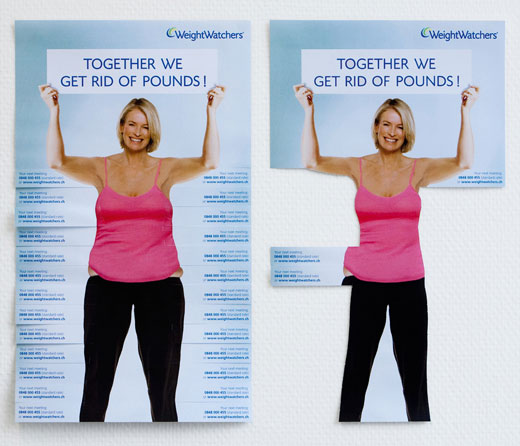 WeightWatchers Tear-Off Posters