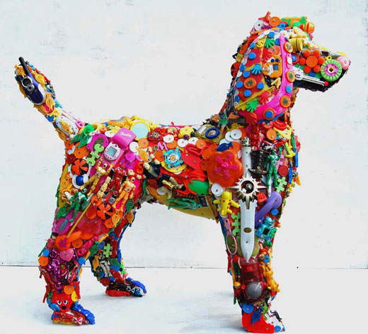 Toy Sculptures via Discarded Plastic Item