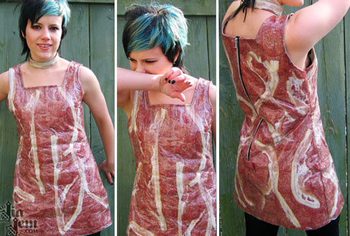 Jia Jem and her Bacon Dress