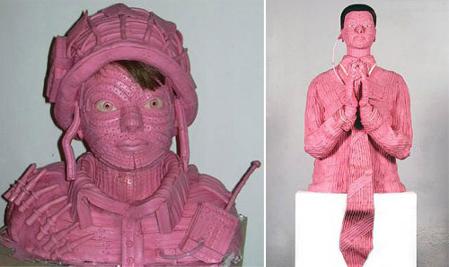 Sculpture Art Using Chewing Bubblegum