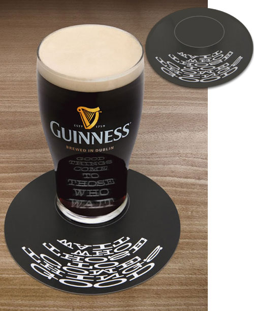Screte message coaster