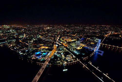 Magnificent Night View of London by Jason Hawkes