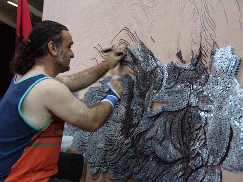 Nail Mosaic Art