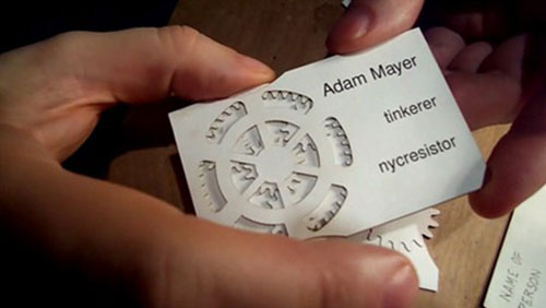 17 creative and unusual business card design design swan adam mayer geared business cards reheart Image collections