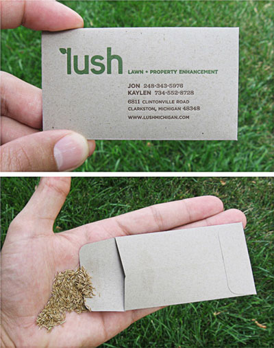 Lush - plantable business card