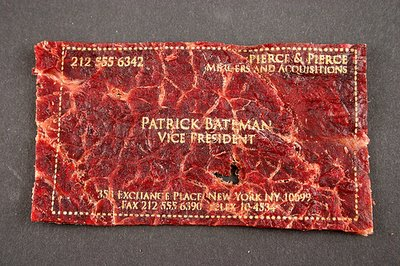 MEAT CARDS: BUSINESS CARDS MADE FROM MEAT AND LASERS