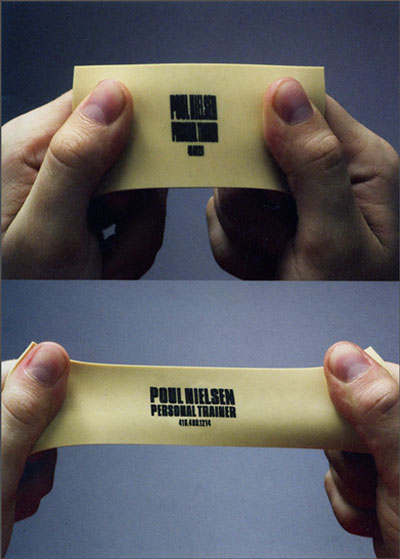 personal treiner rubber name card