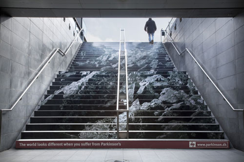 Parkinson's Disease Stairs Advertisement