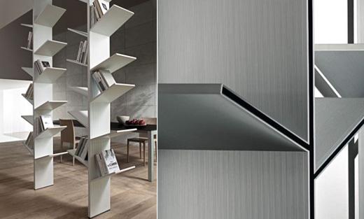 Nature Inspire Bookshelves Design