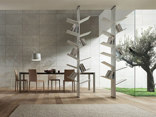 Nature Inspire Bookshelves Design