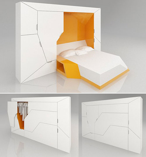 Furniture transformer boxetti collection design swan - Furnitures for small spaces collection ...