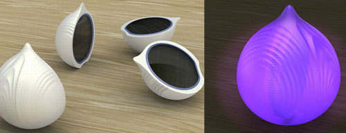 The solar powered UVonion illuminates and sanitizes
