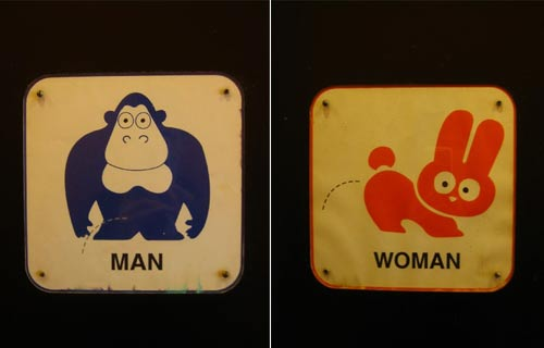 Unusual Washroom Signs