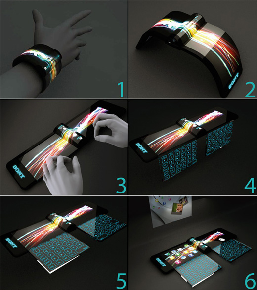 Sony Futuristic Computers Concept On Your Wrist!