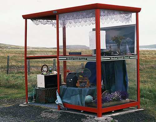 Sofa, TV and curtains: Most comfortable bus stop ever
