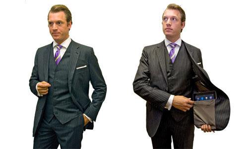 Suits With Custom iPad Pockets